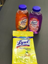 2- Lysol Concentrate makes 5 Gallons and Disinfectant Wipes! Rincon, 31326