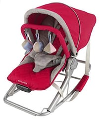 baby's red and gray bouncer 3710 km