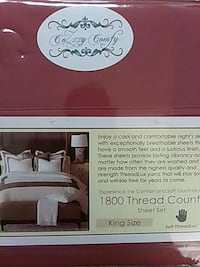 cozzy comfy 1800 thread count sheet set Durham, 27707