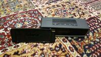 black and gray DVD player