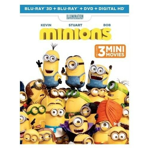 Minions 3D (Blu-ray 3D+Blu-ray+DVD+Digital HD