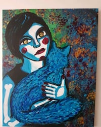 Acrylic Painting Zombie and Cat Coquitlam, V3B 0B7