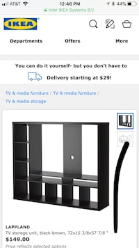 Black wooden tv stand screenshot Washington, 20008