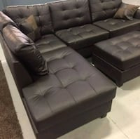 Brand New Espresso Faux Leather Sectional Sofa  Silver Spring, 20910