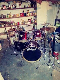 Stagg 5 piece drum kit only no hardware. Asking $350 but no less $200. Brentwood, 20722