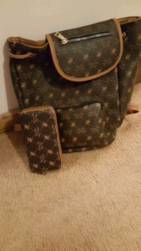 brown and black Louis Vuitton leather tote bag St. Charles, 60175
