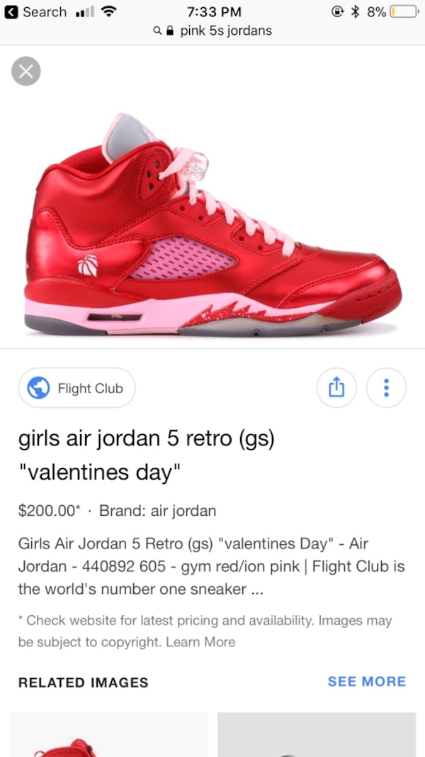 39eb5f5d9e7fb5 Used Unpaired red air jordan 5 shoe screenshot I got em text me for  pictures but u gotta be for real about buying em ladies for sale in Fort  Worth - letgo