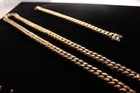 14mm Cuban Miami Link Chain and Bracelet 14k Electroplated FULL SET SURREY