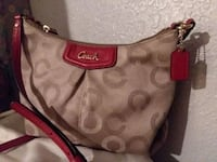 brown monogrammed Coach hobo bag Rogers, 72758