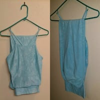 Women's 2-Piece High Fashion Teal Outfit in Small