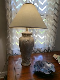 Heavy silver and gold lamp