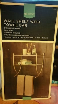 wall shelf with towel bar box Cherry Hill, 08002