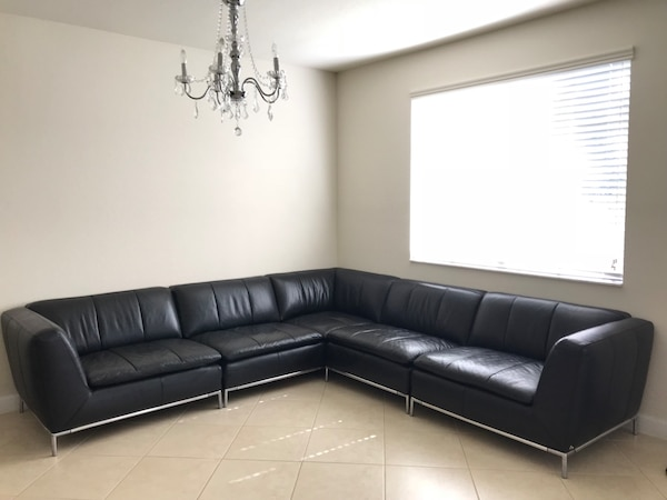 Nicoletti, Italian Leather Sectional Sofa