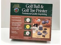 Golf ball and tee printer North Dumfries, N0B 1E0
