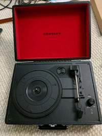 black and red Crosley vinyl player Fairfax, 22033