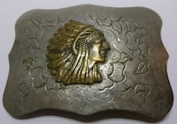 Crown Silver hand made belt buckle Tucson