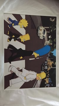 The Simpsons Abbey Road maleri