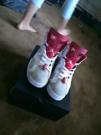 pair of white-and-red Air Jordan shoes Colorado Springs, 80911