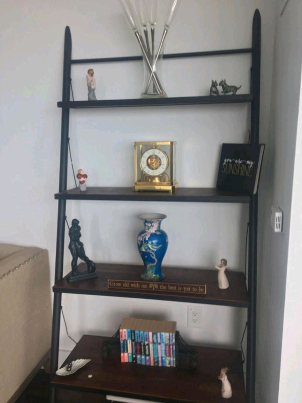 new style 3a50e ed1a2 West Elm leaning ladder shelf unit