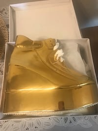 Gold Platform Sneakers Irving, 75038