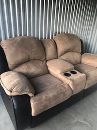 brown suede 2-seat recliner sofa Highlands Ranch, 80126