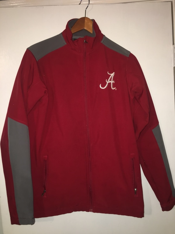 Gray and red alabama crimson tide jacket