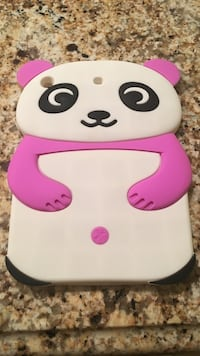 white and pink panda 3D smartphone case