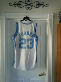 white and blue jordan 23 jersey