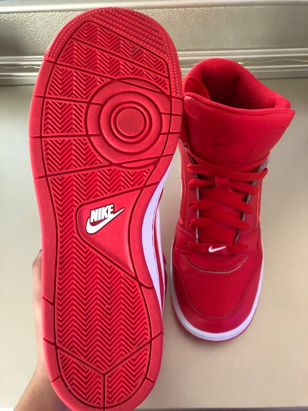 Red Nike Mid Sneakers a591f00e-7883-49b1-ad00-c81b3c491956