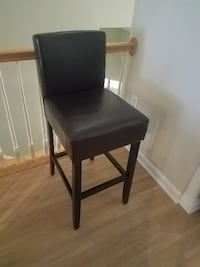 Two (30 inch) New Brown Leather Bar Stools Arlington