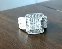 silver-colored diamond encrusted ring Stoneham, 02180