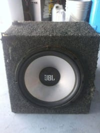 black and gray PB subwoofer speaker Chino, 91710