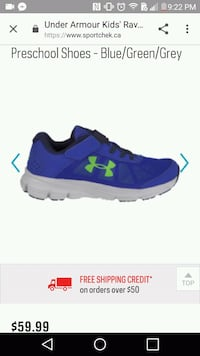 New 7T Under Armour runners Nanaimo, V9R 4C1