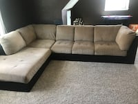 Tan Suede and Brown Leather Sectional Ooltewah, 37363