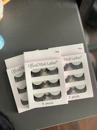 BRAND NEW Mink lashes $20 for ALL three packs Calgary, T3G 4W2