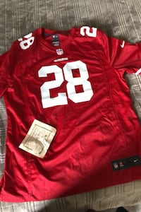 49ers jeresey  autograph by hyde