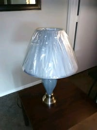 Grey and stainless steel table lamp Tulsa, 74136