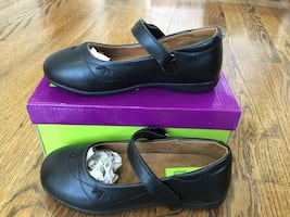 Girl's Black Mary Janes