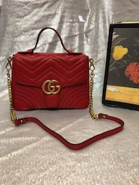 Gucci Marmont Small Top Handle Bag Silver Spring, 20910