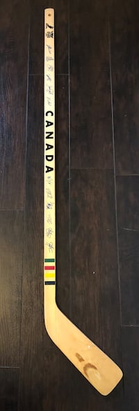Mint condition Wooden Canadian team hockey stick