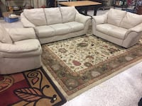 Italsofa leather couch and loveseat and oversized chair  South Daytona, 32119