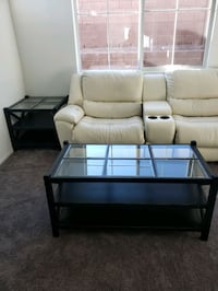 Black coffee and side table set