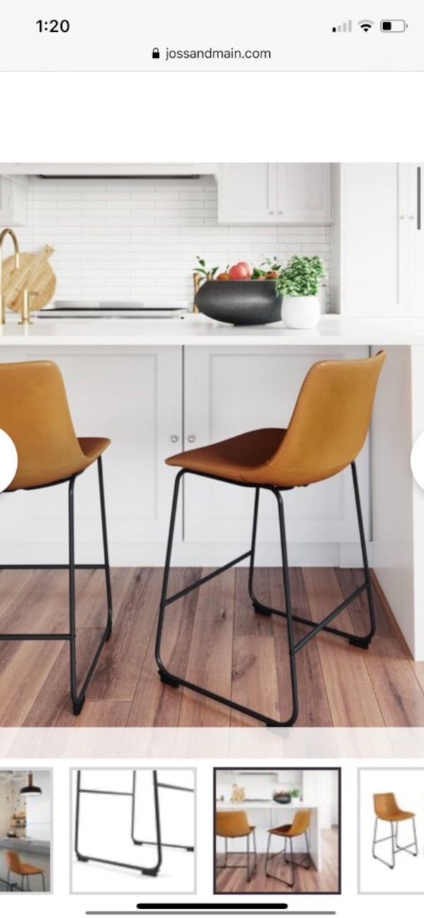 Coleman Bar and Counter Stool (set of 2) in light brown 974c4eee-3403-43e9-9598-98bb6d52e869