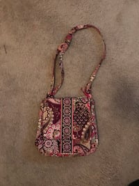 women's pink and black floral sling bag Elkridge, 21075