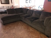 Brown microfiber sectional with few flaws.   Santa Maria, 93454