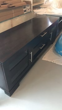 Black wooden 2-drawer chest Ottawa, K4A 0Y6