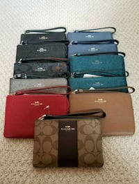 COACH BNWT assorted color leather wallets AUTHENTI Courtice, L1E 2G2