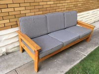 Three seater wooden couch Waterloo, N2J 1C9