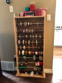 Excellent option for your Crafting needs! $400 worth of ribbons, yarn, markers and Pine ribbon holder. $65 OBO Kitchener