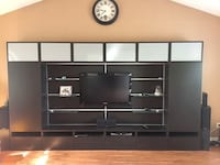black wooden TV stand with flat screen television Hamilton, L9A 2W1